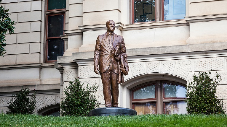 MLK Sculpture at Georgia Capitol in Atlanta