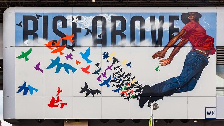 Fahamu Pecou's Rise Above Mural