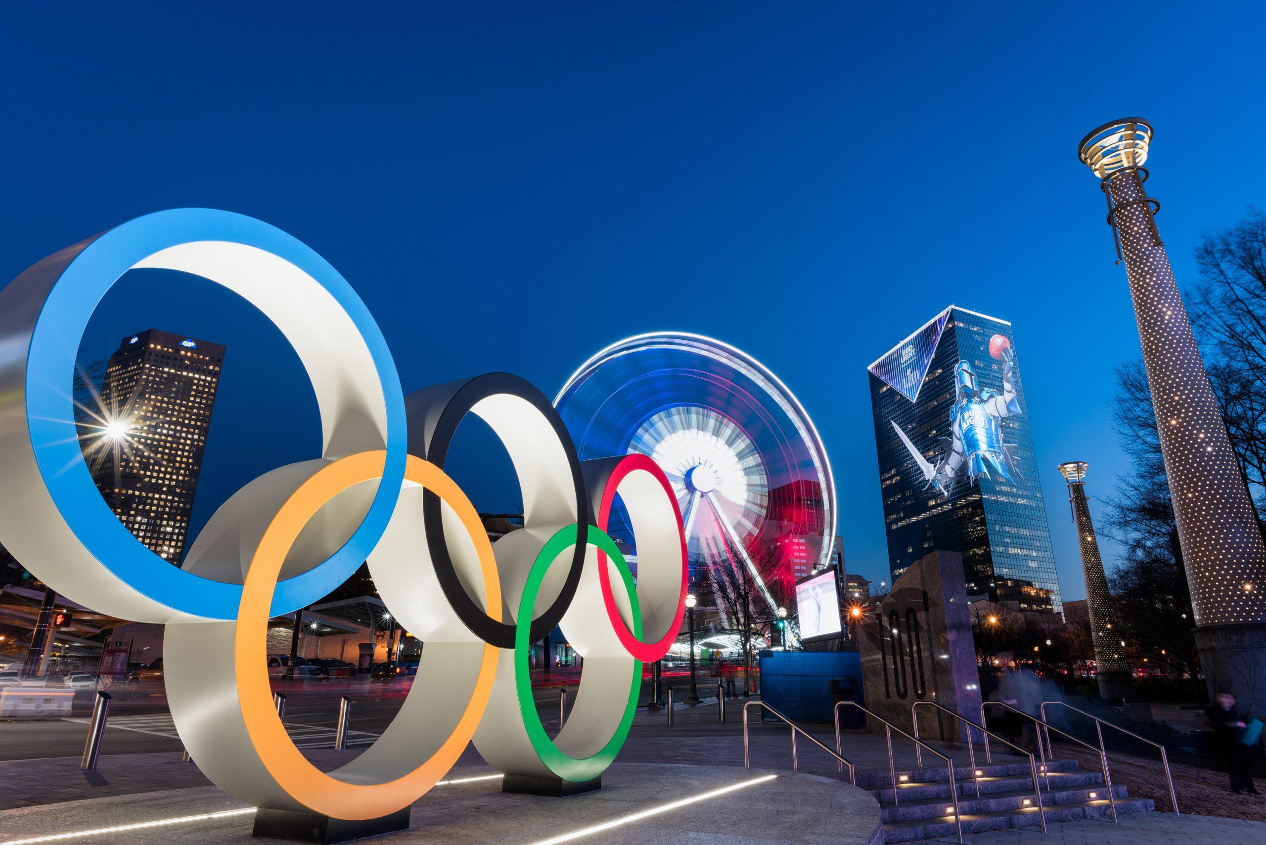 Olympic Rings at Centennial Olymoic Park