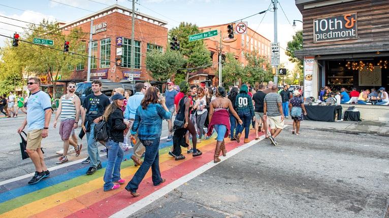Atlanta Midtown Rainbow Crosswalk