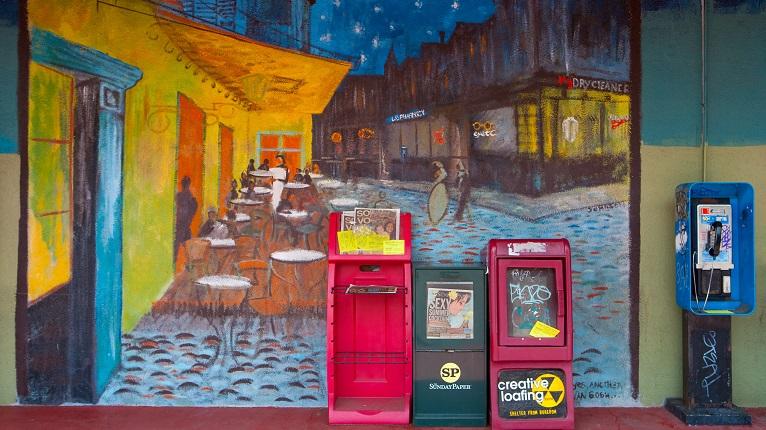 Atlanta Little 5 Points Mural Van Gogh