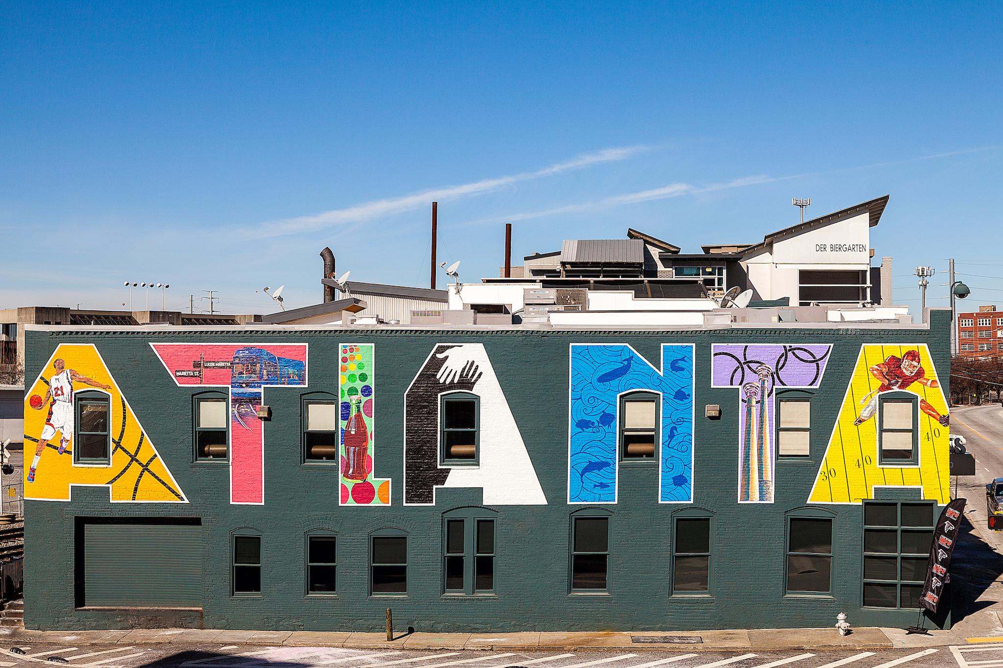 ATLANTA mural in Downtown Atlanta